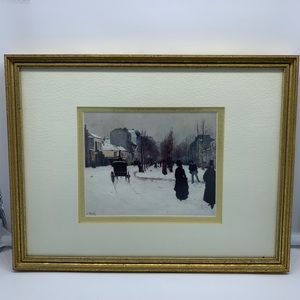 Professionally Framed double matted print 9.5x12in